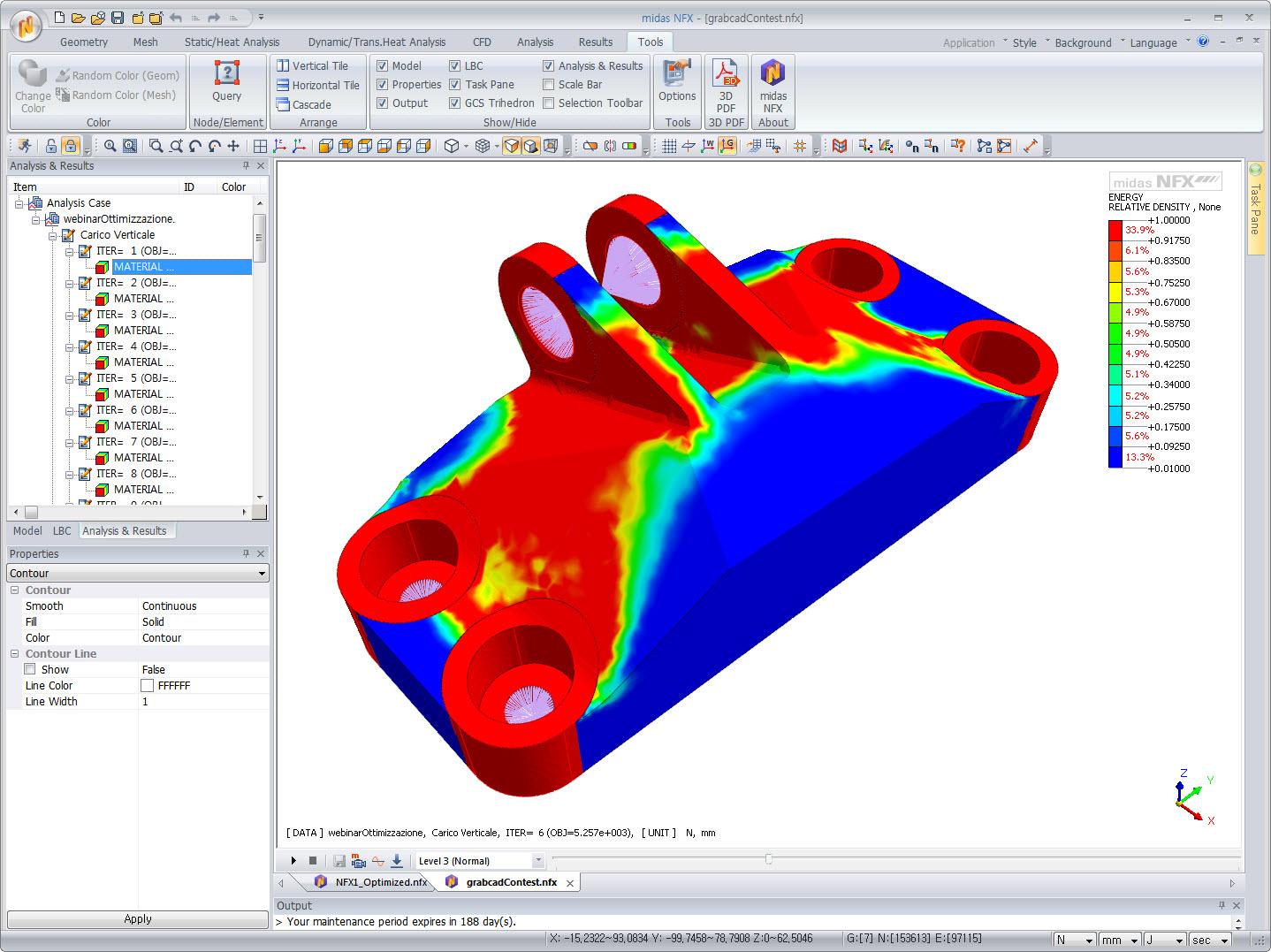 Bracket Topology Optimization