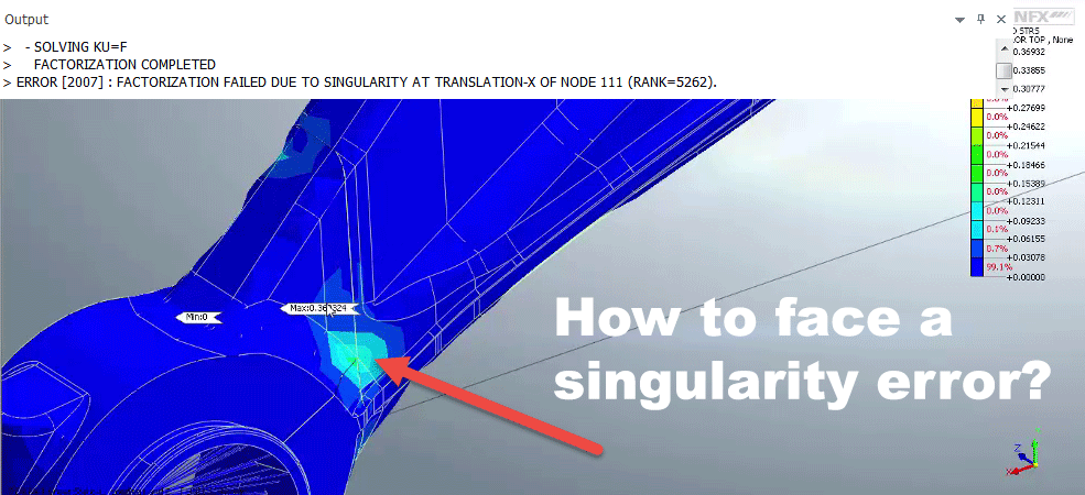 How to face a singularity error? - FEA for All