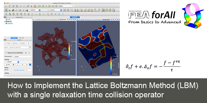 How to Implement the Lattice Boltzmann Method (LBM) with a single