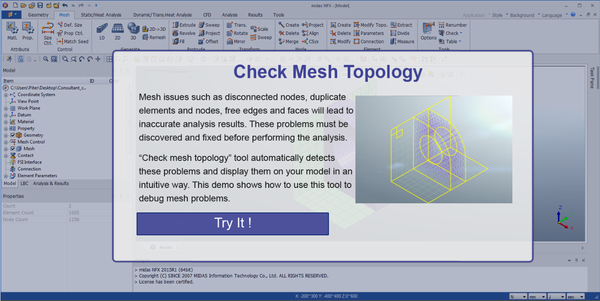 mesh topology check