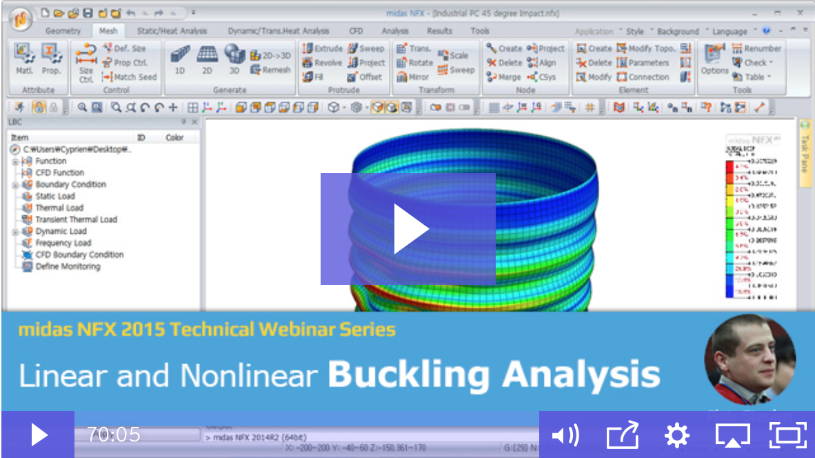 nonlinear buckling analysis