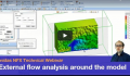 Simulate External flow around a model