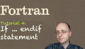 [Fortran Tuto 4] If endif statement