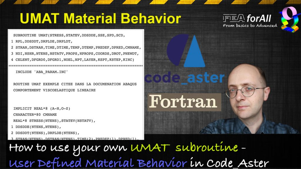 How to add your own material behavior law in Code_Aster?