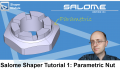 Salome Shaper Tutorial 1 : Modeling a Parametric Nut