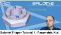 Salome Shaper Tutorial 1 : Modeling a Parametric Nut