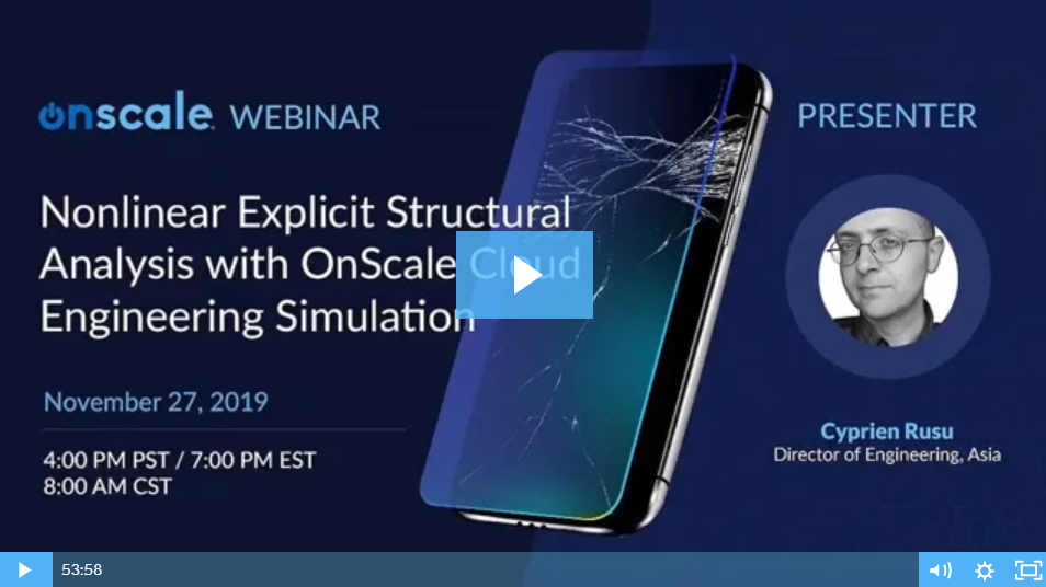 Nonlinear Explicit Structural Analysis with OnScale