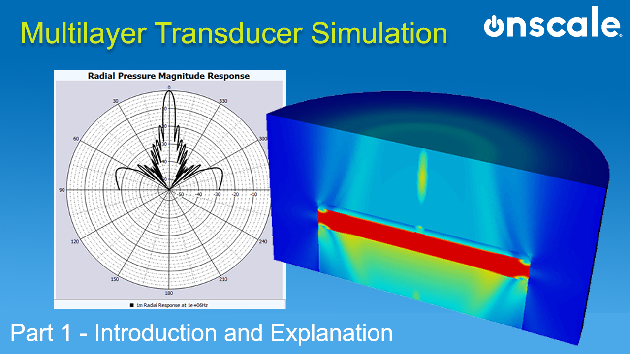Multi layer transducer FEA simulation OnScale