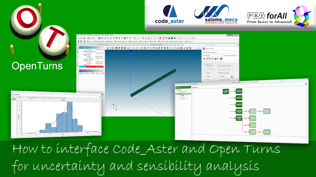 How to interface Code_Aster and Open Turns to do uncertainty quantification and sensibility analysis